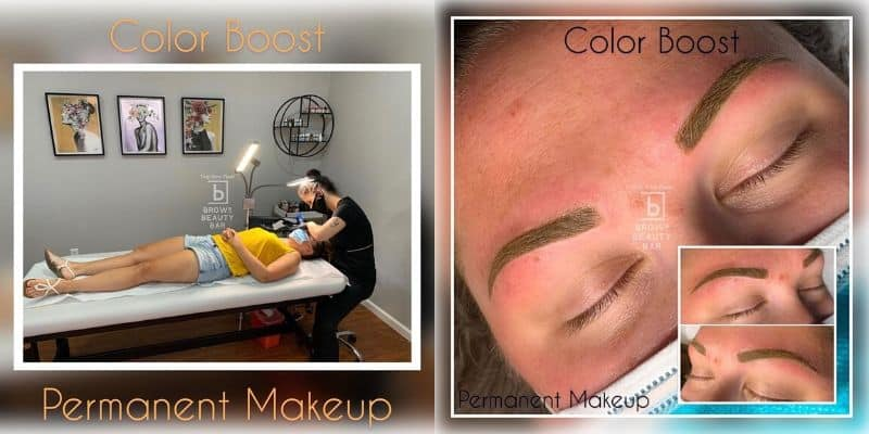Microblading process done by our permanent makeup expert