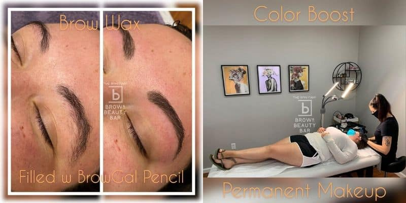Microblading process done by our expert