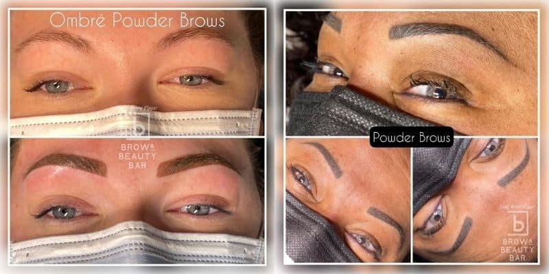 Ombre Powder Brows - Before & After