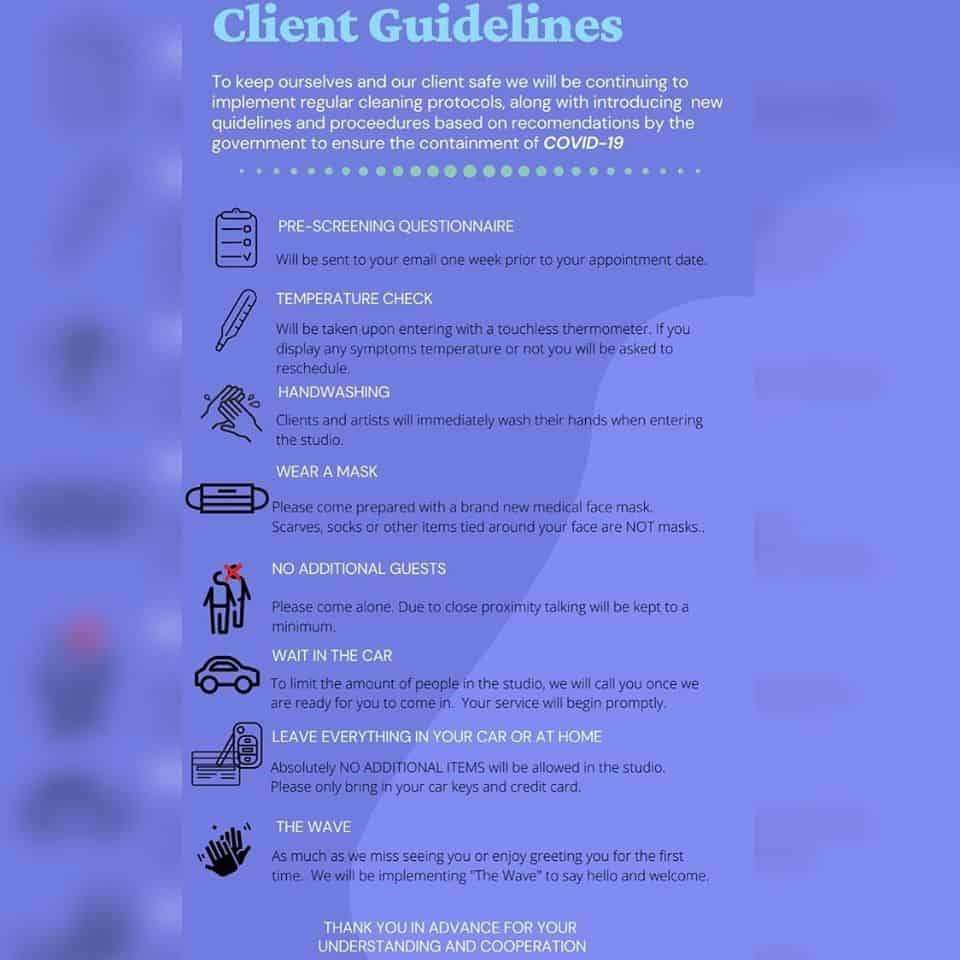 Client guidelines for covid 19